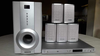 Home Theatre Admiral 5.1 Canales Activo + Dvd Impecable.