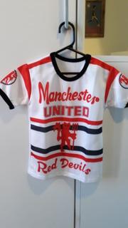 Camisa Futebol Manchester United Infantil Antiga