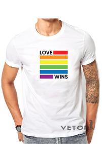Camisa Camiseta Alg Masculino Lgbt Gay Love Wins Orgulho Gay
