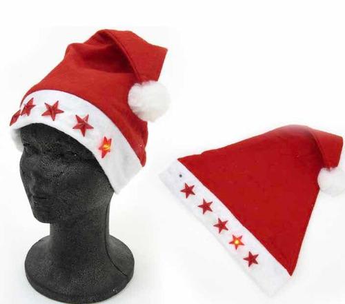 Imagen 1 de 2 de Gorro Santa Clos Con Luz Led Pines Navidad Claus