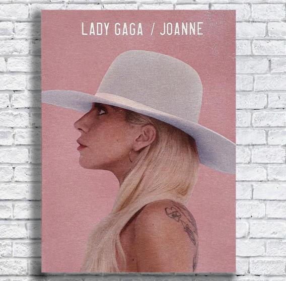 Quadro Lady Gaga Joanne Impresso Em Tela De Pintura