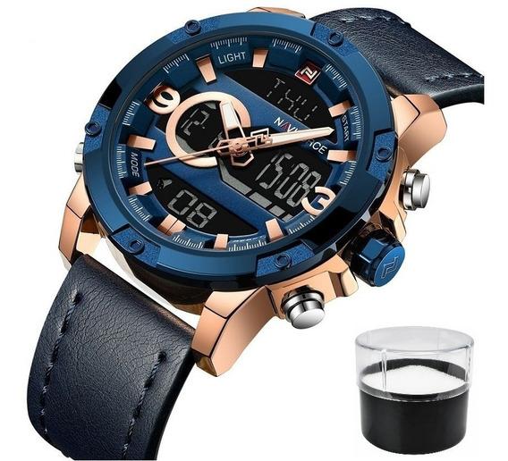 Relógio Naviforce 9097 Original Luxo Com Estojo Promoção