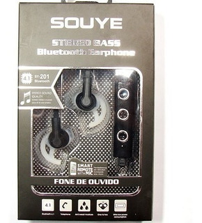 Fone De Ouvido Bluetooth Souye Sy-201