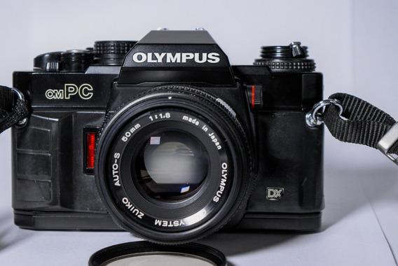 Câmera Analógica Olympus Ompc+lente Zuiko 50mm 1.8 Original