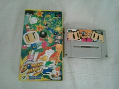Jogo Nintendo Super Famicon Bomber Man 1 Bomberman 5