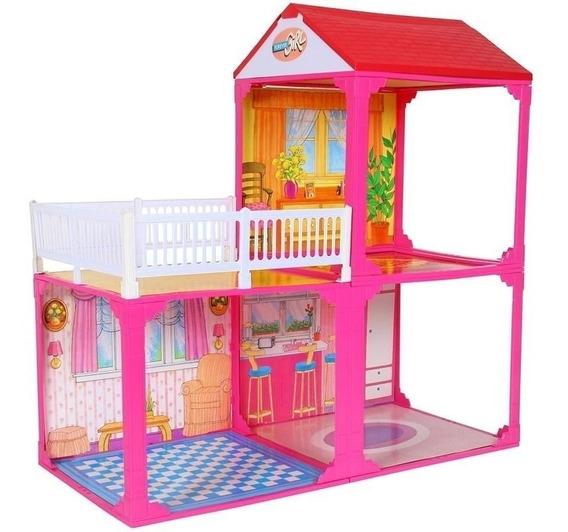 Casa Para Muñecas Tipo Barbie Paloma Con Habitaciones