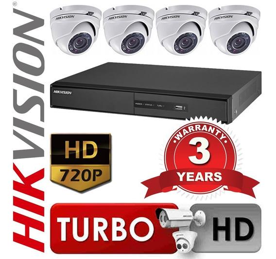 Kit Dvr Seguridad 4ch 7204hghi Hikvision + 4 Camar. Martinez