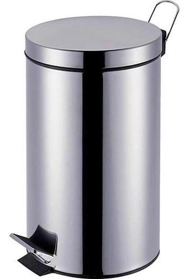 Lixeira Inox 12 Litros Ágata Mor Banheiro Cozinha