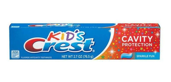 Creme Dental Crest Kids Cavity Protection Sparkle Fun 130g