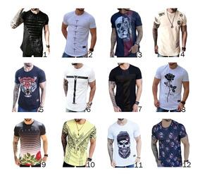 Camisas Blusas Masculina Longline Oversize Swag Combo C/2 Un