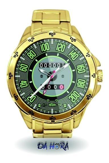 Relógio Fusca 200 Km Dourado Personalizado