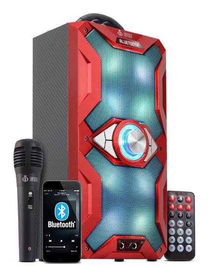 Caixa De Som Bluetooth Amplificada Portátil Microfone Grátis