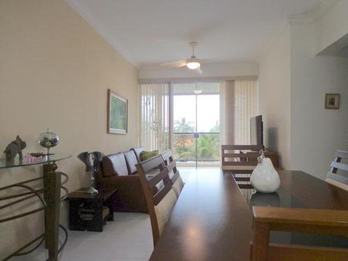 Apartamento Com 3 Dormitórios À Venda, 100 M² Por R$ 550.000 - Enseada - Guarujá/sp - Ap1078