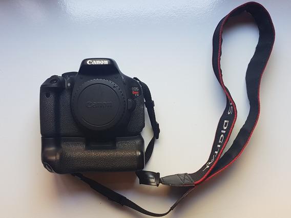 Câmera Canon T3i + Lente 18-135mm + Grip + Bolsa