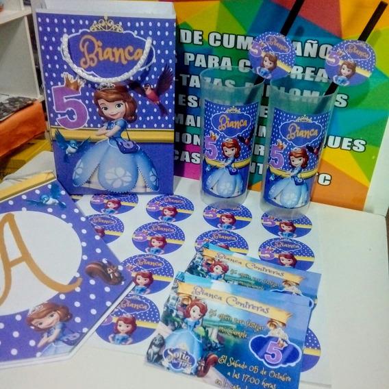 Promo Cotillon Personalizado Princesa Sofia Para 30 Niños