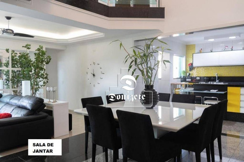 Cobertura Com 3 Dormitórios À Venda, 335 M² Por R$ 1.450.000,00 - Campestre - Santo André/sp - Co11931