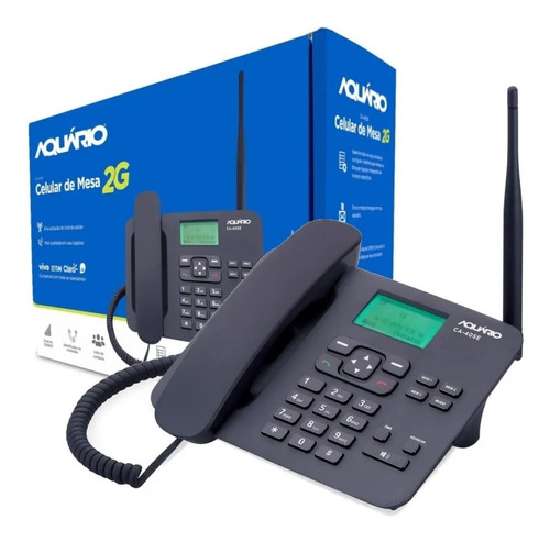 Imagem 1 de 3 de Telefone Celular Aquario De Mesa Rural Ca-40s - Um Chip