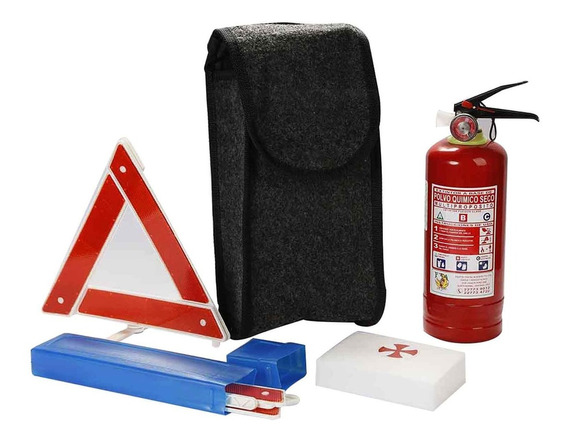 Kit De Seguridad Automóvil Extintor + Triángulos + Botiquín
