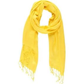 Conjunto 2 Echarpes Pashmina - Amarelo E Coral
