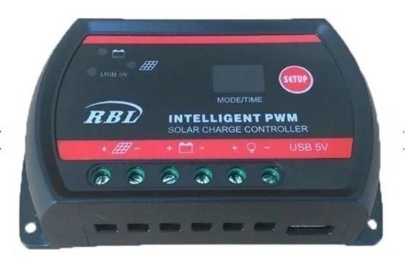 Controlador De Carga Solar Inteligente 30a 12v/24v Rbl
