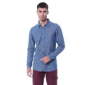 Camisa Vide Bula Jeans. Azul - M