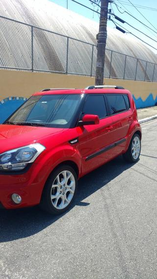 Kia Soul Vermelho 2012 Top De Linha - 6 Marchas Automático