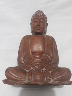 Buda De Madera 20 Cm Mudra Dhyana Meditación Yoga