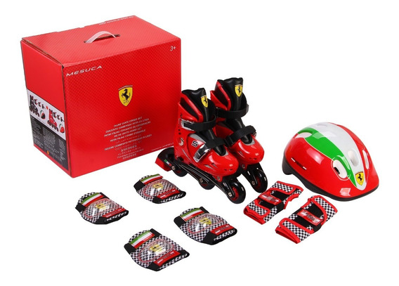 Set Rollers Para Niños Ferrari Fk7 Talle Extensible