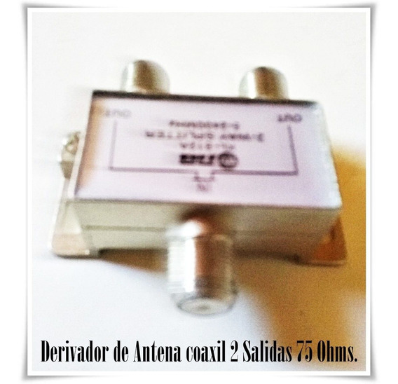 Derivador Antena Tv 1 Entrada A 2 Salidas Macho Pin Fino - Villa Urquiza - Capital Federal