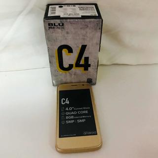 Celular Blu C4 8gb Dual Chip Dourado Capa Silicone Película