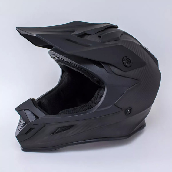Casco Cross Origine 509 Carbon Looking Mate Negro Importado