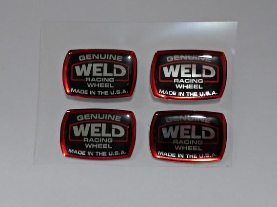 Jogo C/4 Adesivos Roda Weld Racing Magnun / Roda Ag Borda