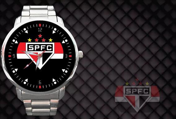 Kit 2 Relógios - Relógio São Paulo Spfc Tricolor Morumbi Fut