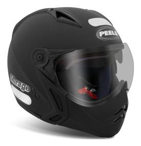 Capacete New Mirage Peels Óculos Solar Preto Fosco F21