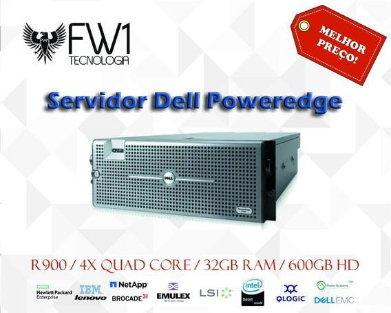 Servidor Dell Poweredge R900 4x Quad Core 32gb Ram 600gb Hd