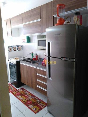 Imagem 1 de 17 de Apartamento Com 2 Dormitórios À Venda, 51 M² Por R$ 245.000 - Normandie Residencial - Itatiba/sp - Ap0468