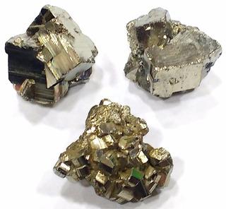 Lote Com 3 Piritas Qualidade Extra 78g 30mm Pedras Naturais