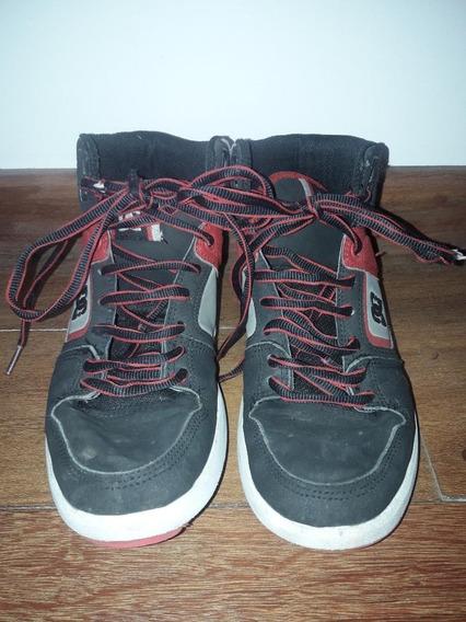 Zapatillas Dc Negras Con Rojo 38 Eur