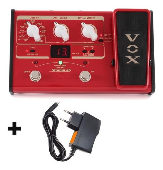 Vox Stomplab 2b Pedaleira De Efeitos Para Baixo C/ Fonte Nfe