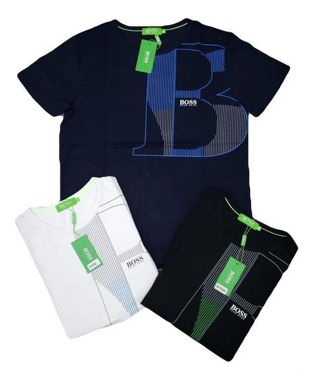 Camiseta Tela Fria Hugo Boss Fila Gucci Lacoste
