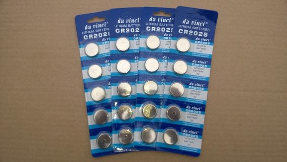 Bateria Pilha Lithium Cr2025 3v Kit C/300 Un Placa Mãe