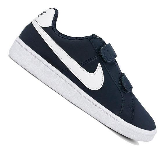 Tênis Nike Infantil Court Royale Marinho 833536400 Original