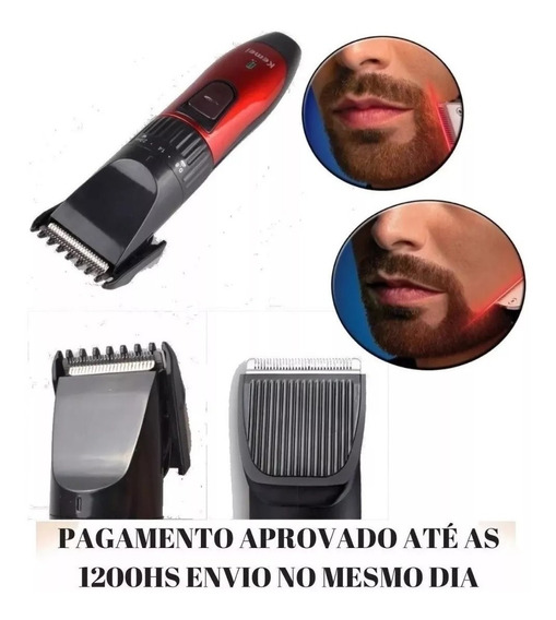 Kit Maquina Aparador Barba Cabelo Bigode Peito Axilas Bivolt