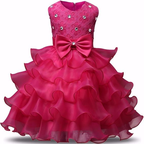 Vestido Infantil Luxo Festa Princesa Real Realeza Rodado