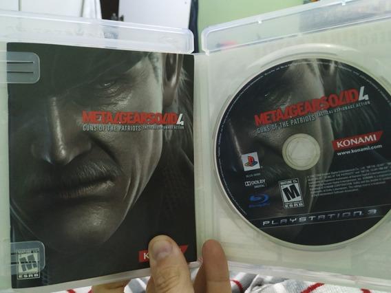 Metal Gear Solid 4 Guns Of Patr. Ps3 Mídia Física Semi Novo