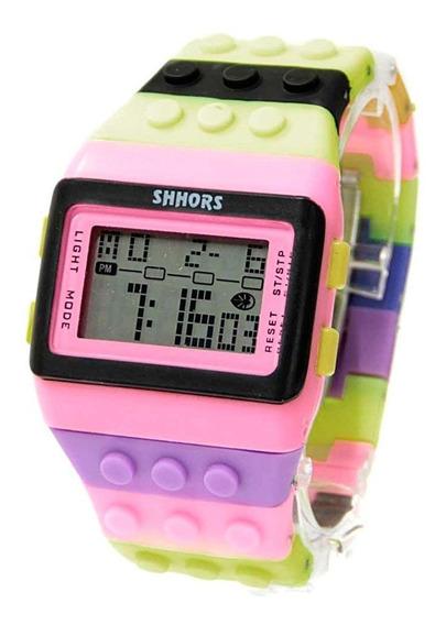 Reloj Para Joven Niño Niña Bloque Ajustable Marca Shhors