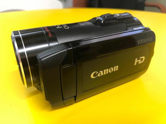 Câmera Cânon Vixia Hf20 - Novíssima - Uso Profissional