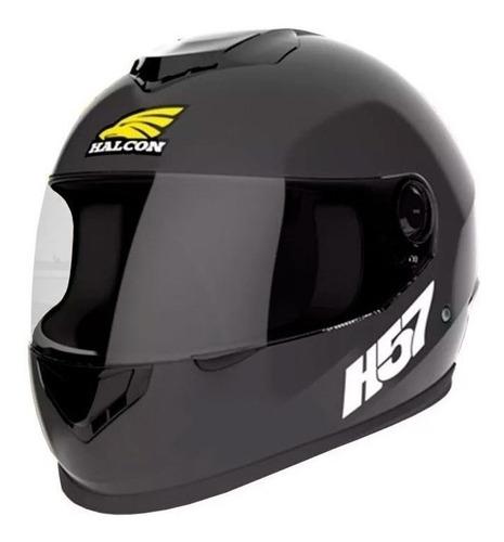 Imagen 1 de 4 de Casco para moto integral Halcon H57  negro talle M