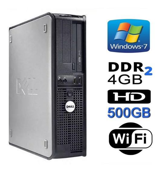 Cpu Dell Mini Optiplex Dual 4gb Hd Ssd120gb Dvd Wifi