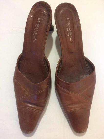 Liquido Zapatos Cuero Marrón Barbara Bui A Reparar Sbs